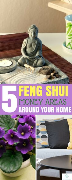 Know Your 5 Feng Shui Money Areas #fengshui #homedecor