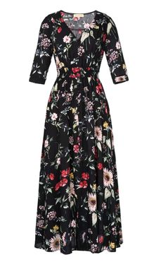 Kate Kasin Boho Style Longue Robe 2017 Dames D'é Trendy Dresses, Casual Dresses For Women, Clothes For Women, Floral Dresses, Classy Work Outfits, Casual Outfits, Maxi Dress With Sleeves, Half Sleeves, Short Sleeves