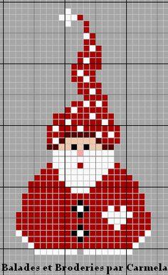 Santa Cross Stitch, Cross Stitch Cards, Cross Stitching, Cross Stitch Embroidery, Christmas Embroidery Patterns, Christmas Cross Stitch Patterns, Cross Stitch Christmas Ornaments, Theme Noel, Christmas Knitting