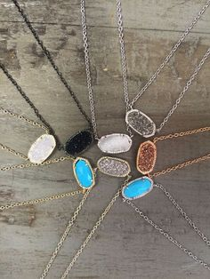 Kendra Scott necklaces.