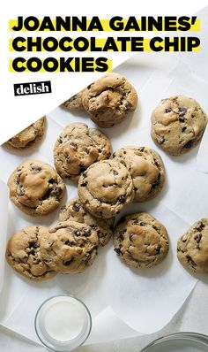 Joanna Gaines' chocolate chip cookies are possibly the fudgiest, thickest cookies we've had. Get the recipe at Delish.com. #cookie #chocolatechip #chocolate #delish #recipe #easyrecipe #dessert