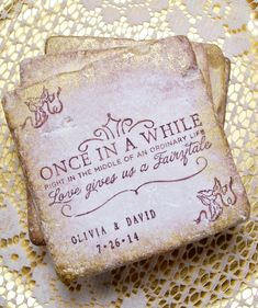 Fairy Tale Personalized Wedding Gift Once in a by PrayerNotes