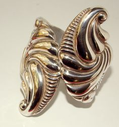 Taxco Silver Repousse Clamper Bracelet by TheButterflyBoxdeitz, $275.00