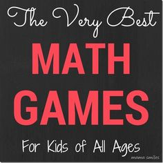 Playing games is a wonderful way to cultivate a love of mathematics. It also keeps kids curious about math and how math works! Here are some of the very best math games for kids of all ages. Do you know a game that we should add to this list?