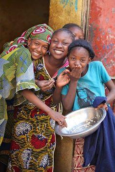 Jóvenes africanas.