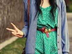 Perfect dress/belt combination. Love it!