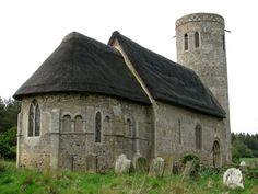 St Margaret's Church, Hales Norfolk. One of the round tower Norman churches