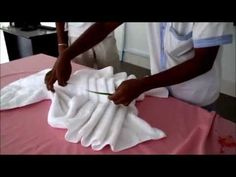 How to Tie Towels to Impress Your Clients - YouTube