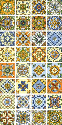 Tile Mexican Style by Maria Galybina on Behance  https://www.behance.net/gallery/18374347/Tile-Mexican-style