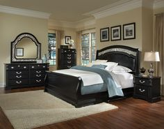 Black Bedroom Furniture. Very Nice! Modern Bedroom Furniture SetsBedroom ...