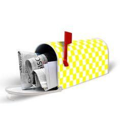 US Mailbox mit Motiv: Karo Gelb Amazon, ca. 60 €