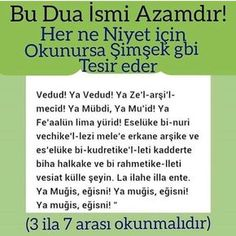 Yine Ebu Sa'îd (radıyallahu anh) hazretleri der k Allah, My Prayer, Quran, Prayers, Religion, Faith, Reading, Instagram Posts, Quotes