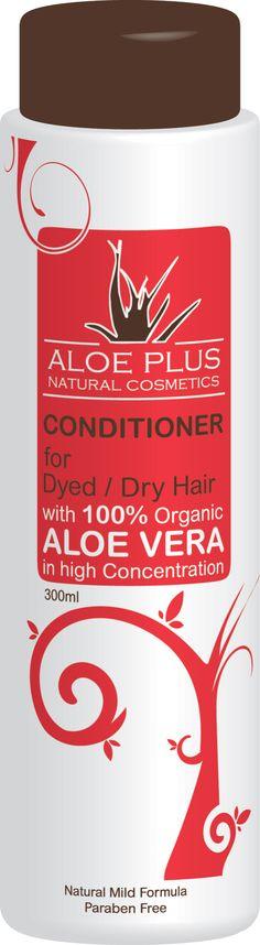 Aloe Plus Hair Conditioner 300ml with Organic Aloe Vera (Dyed / Dry Hair)