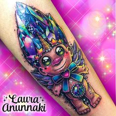 💎🦄CRYSTAL UNICORN TROLL🦄💎 The best combination with extra sparkles for the lovely @milk_tattoo 💖💜💙 thank you for the trust in my work 🙇🏻♀️ inspired by the trolls: @tiffs_trolls I did this magical baby on Taiwan tattoo convention a few weeks ago, sorry for the bad lighting 💜💖 🌈DONE AT @taiwantattooconvention 🌈 DONE WITH THE BEST:@fusion_ink @fusionink_pro @stencilstuff @mundoskink @quickcaps @h2oceanaftercare @cheyennetattooequipment @redemptiontattoocare 💜💙💚💛❤️💖…