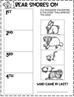 Bear Snores On. by First Grade Hip Hip Hooray Story Sequencing, Sequencing Activities, Speech Activities, Preschool Activities, Comparing Texts, Text To Text, Pete The Cats, Author Studies, Reading Rainbow
