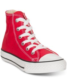 Converse Little Boys' & Girls' Chuck Taylor Hi Casual Sneakers from Finish Line - Red
