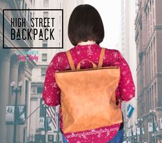 Perfect for a day trip out on the town. Get your High Street Backpack in Caramel or Black. #oneorganizedbaglady #thirtyonegifts #backpack #bagsandpurses