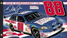 Dale Earnhardt Jr. NATIONAL GUARD 88 Giant 3'x5' NASCAR Flag - Hendrick Motorsports 2008 -available at www.sportsposterwarehouse.com