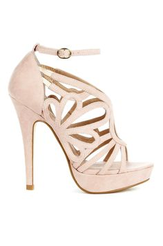 Blush Cut Out Heels