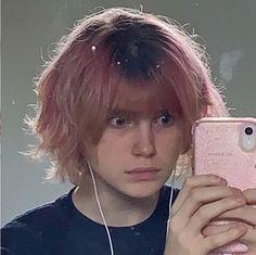 Undercut Pixie, Gorgeous Hair Color, Cute Haircuts, Edgy Hair, Mullets, Pastel Hair, Aesthetic Hair, Cut And Color, Bowie