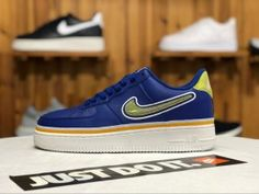 1634f681fce0 Nike Air Force 1  07 LV8 Sport Deep Royal University Gold-Off White