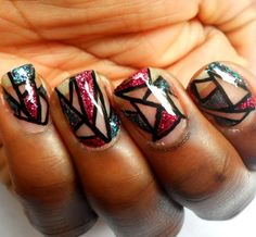 Haute Lacquer: Mosaic Tiles  Shimmer Polish Nail Art