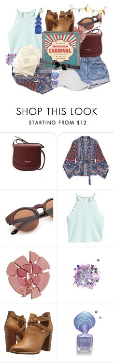 """To the Carnival we go"" by the-art-of-me ❤ liked on Polyvore featuring Lancaster, Mes Demoiselles..., Charlotte Tilbury, The Gypsy Shrine, Frye and Le Amonie"
