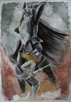 Morgoth e Fingolfin by Giulianog.deviantart.com on @DeviantArt