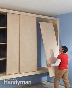 storage with sliding doors