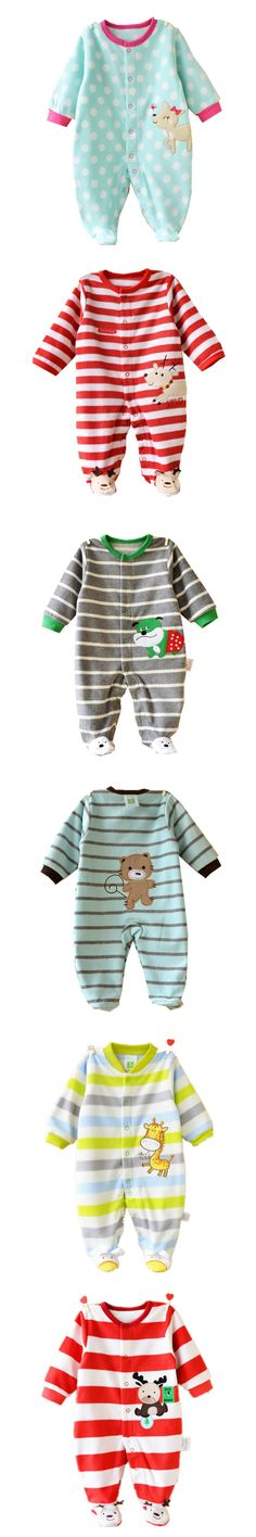 2016 New Style Baby Romper Long Sleeve Fleece Newborn Ropa Bebe Boy Girl Clothes 0-12 Months Character Baby Clothing