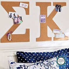 No Nails Greek Letter Cork Pinboard from PBteen. Shop more products from PBteen on Wanelo. Alpha Phi Omega, Pi Beta Phi, Alpha Sigma Alpha, Chi Omega, Phi Mu, Phi Sigma Sigma, Kappa Kappa Gamma, Delta Zeta, Sorority Crafts