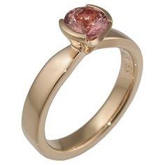 simply elegant padparadschas wedding ring