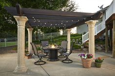 These free pergola plans will help you build that much needed structure in your backyard to give you shade, cover your hot tub, or simply define an outdoor space into something special. Building a pergola can be a simple to… Continue Reading → Diy Pergola, Retractable Pergola, Building A Pergola, Pergola Canopy, Pergola Swing, Metal Pergola, Deck With Pergola, Cheap Pergola, Wooden Pergola