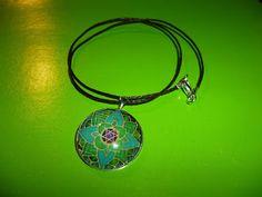 Kedy kreatív termékek: Zöld mandala nyaklánc