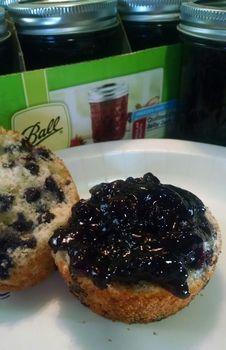 Blueberry Jam - Ball® Jam Maker Recipes 2 pks of blue berries Jelly Recipes, Jam Recipes, Canning Recipes, Other Recipes, Jelly Maker, Jam Maker, Blueberry Jelly, Blueberry Recipes, Jam And Jelly