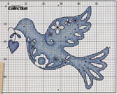 Dove Free Cross Stitch Pattern Chart