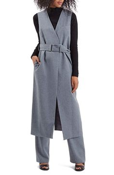 Topshop Sleeveless Longline Jacket available at #Nordstrom