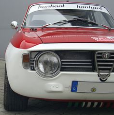 1968 Alfa Giulia Sprint GTA Replica (built in Alfa Romeo Giulia, Roll Cage, Gta, Custom Cars, Classic Cars, Racing, Antiques, Building, Face