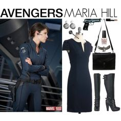 [Outfits inspired by The Avengers] AVENGERS Ensemble | Maria Hill, created by leighanned on Polyvore