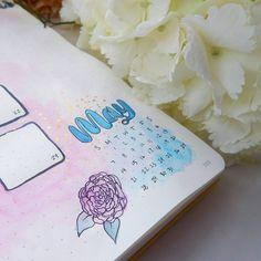 A little dash of blue for May ⠀#wearebujo #bulletjournal #showmeyourplanner #leuchtturm1917 #bulletjournaljunkies #bujo #bujojunkies #planwithme #planner #plannergirl #plannercommunity #bulletjournalmonthlylog #watercolorillustration #brushlettering #brushpen #paintings #waterblog #modernmaker #flatlayforever #watercolour #simplycooldesign #watercolorpainting #watercolor #floralart  #Regram via @little_coffee_fox