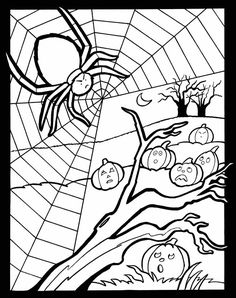 Welcome to Dover Publications Happy Halloween Stained Glass Jr. Coloring Book