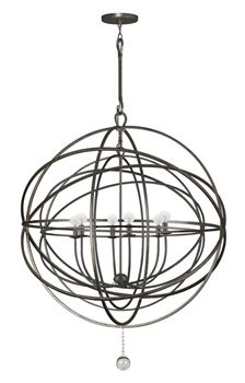 Show details for Crystorama Lighting 9209-EB Chandeliers Solaris