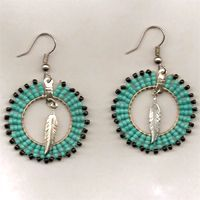"""Sacred Circle"" Seed Bead Earrings"