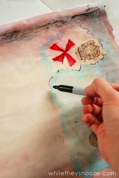 While They Snooze: How to Make a Pirate Treasure Map