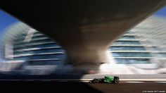 Will Stevens of Great Britain and Caterham drives during practice ahead of the Abu Dhabi Formula 1 Grand Prix at Yas Marina Circuit