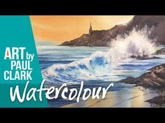 How to paint a Seascape in watercolour - YouTube Watercolor Water, Waves, Beaches, Artist, Boats, Youtube, Painting, Ships, Painting Art