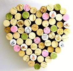 Corkboard - Alice in Wonderland Heart - Recycled Wine Corks by Uncorked - Pink and Green. $28.00, via Etsy.