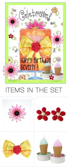 """""""Happy Birthday Beverly!"""" by beleev ❤ liked on Polyvore featuring art"""