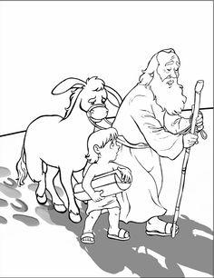 Ayuno de Jesus: Para colorear - La historia de Abraham