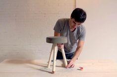 Ben Uyeda Adding Washers and Caps to Stool Legs, Remodelista